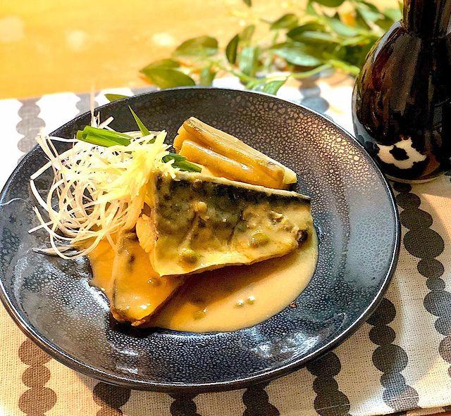 鯖とごぼうの山椒味噌煮