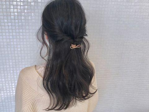 伸ばしかけの髪のまとめ方6