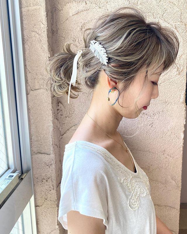 伸ばしかけの髪のまとめ方2