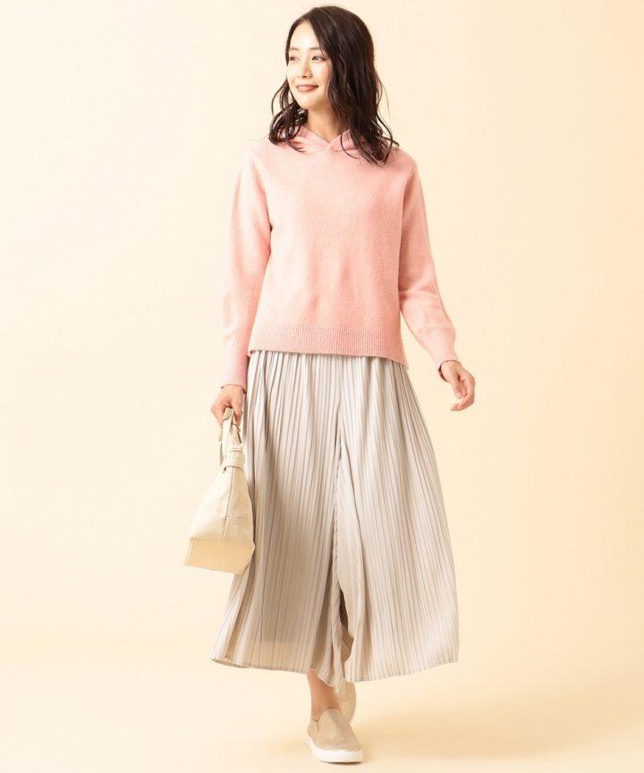 [any SiS] 【洗える】チュールプリーツスカート パンツ