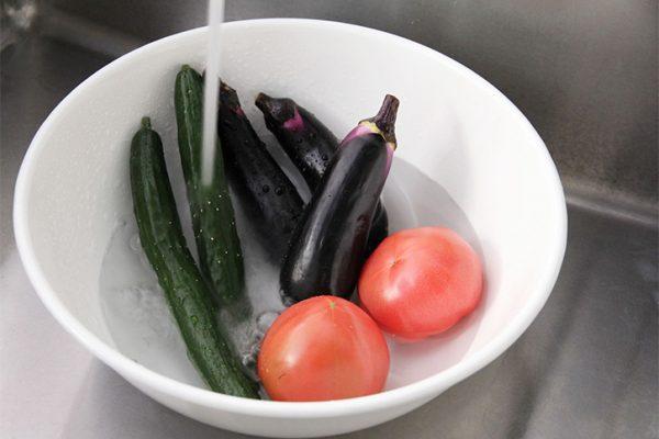 野菜をまとめて洗える