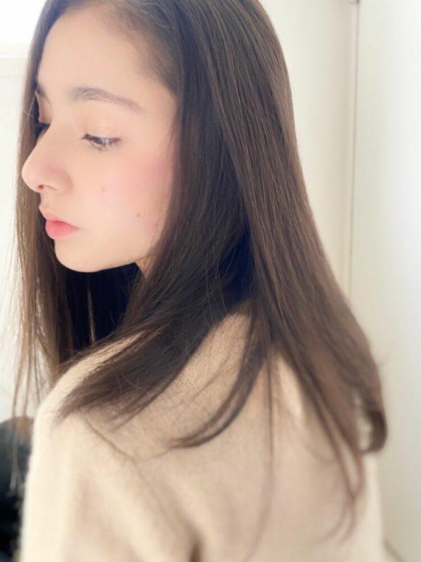 前髪なし美人スタイル♡30代向けセミロングヘア