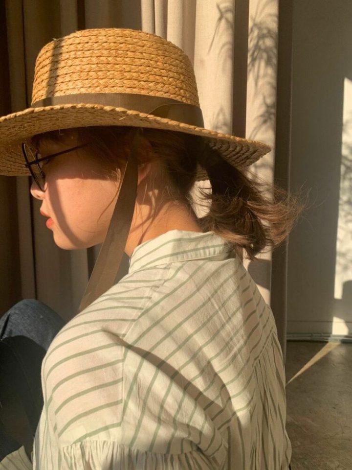 ハチ張り×帽子アレンジのレディースボブヘア