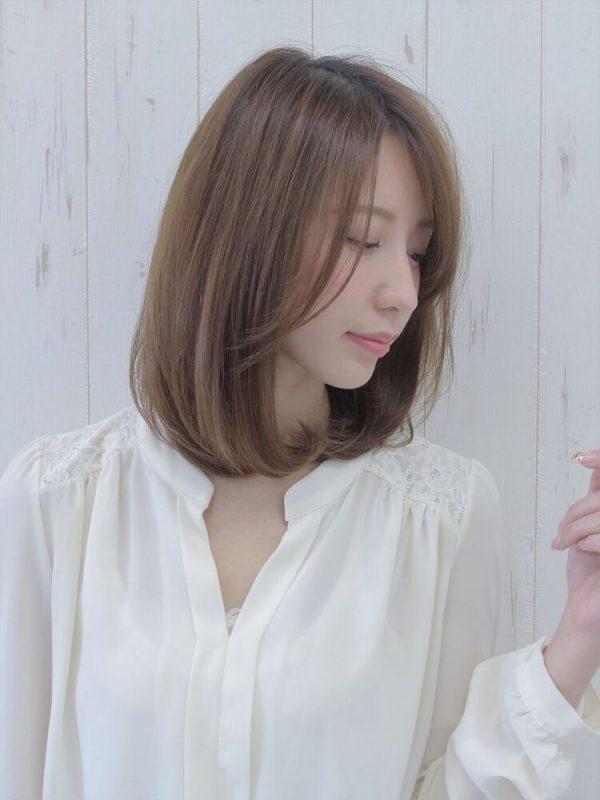 伸ばしかけの前髪アレンジ6
