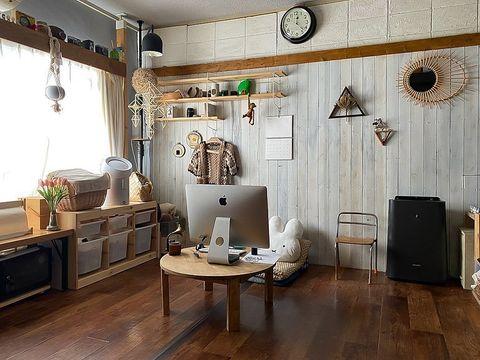 柔らかい雰囲気の可愛い部屋