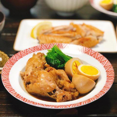 鶏手羽と卵のさっぱり煮