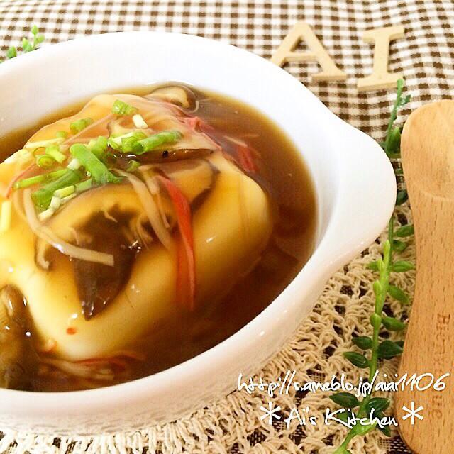 レンジで3分!ズボラうまい餡掛け豆腐レシピ