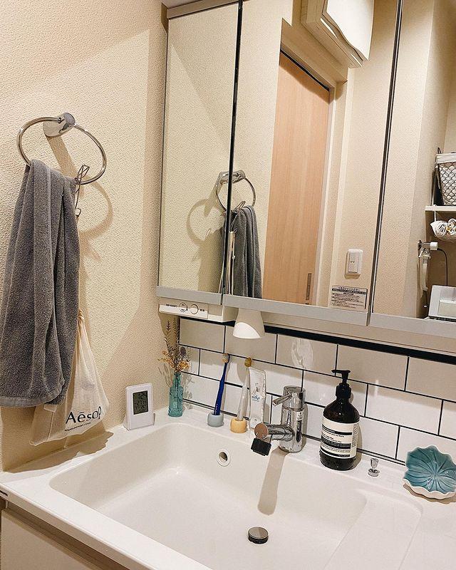 清潔でおしゃれな洗面所