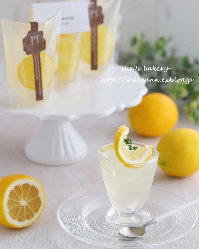レモン、ゼリー、冷たい、デザート。