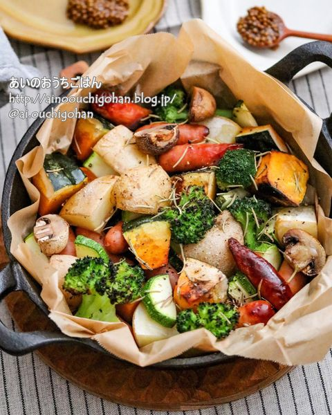 栄養満点のグリル野菜
