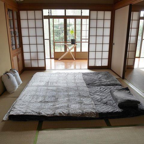 和室を使ったおしゃれな寝室レイアウト