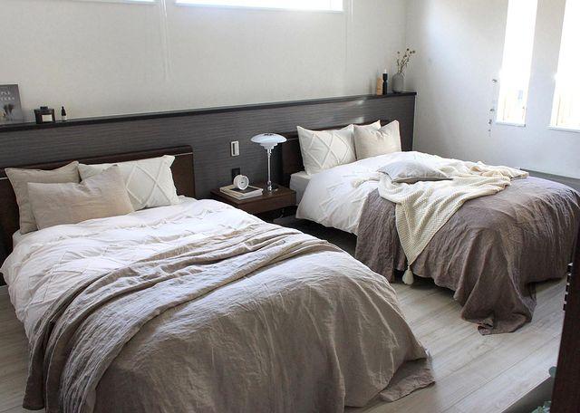 セミダブルを2台置く寝室レイアウト
