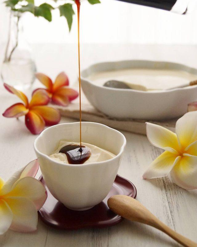 豆乳で作る人気アジアンプリン!豆腐花レシピ