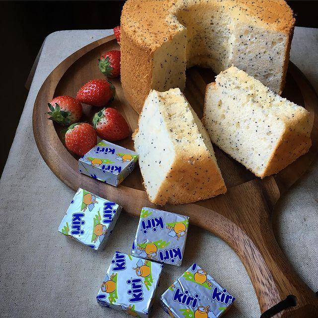 人気♡クリームチーズのシフォンケーキレシピ