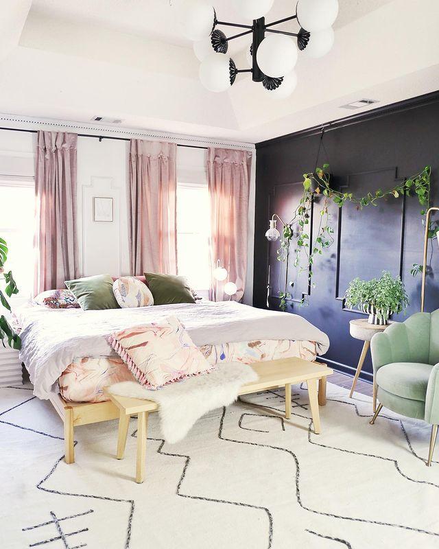 海外インテリア寝室1
