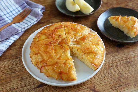 フライパンで簡単!リンゴのタルトタタン風