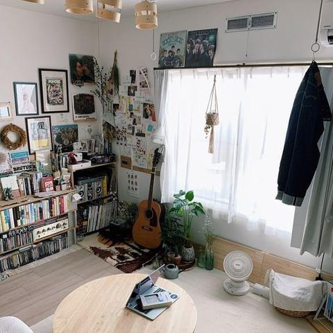 雑貨を置いて趣味の部屋にするリビング