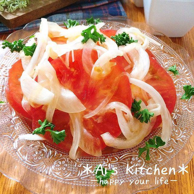 爽やか♡トマトと玉ねぎのマリネサラダレシピ