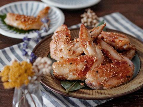 手羽先のピリ辛味噌焼き