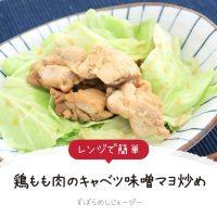 【レシピ動画】レンジで簡単「鶏もも肉のキャベツ味噌マヨ炒め」