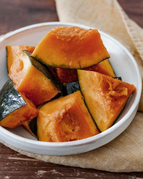洋風レシピ!レンチンかぼちゃの塩バターコンソメ