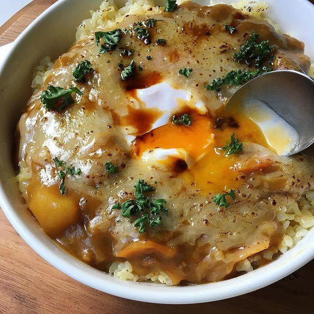 卵×チーズ×醤油!焼かない焼きカレーレシピ