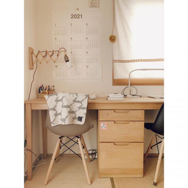 和室を北欧風にする書斎レイアウト