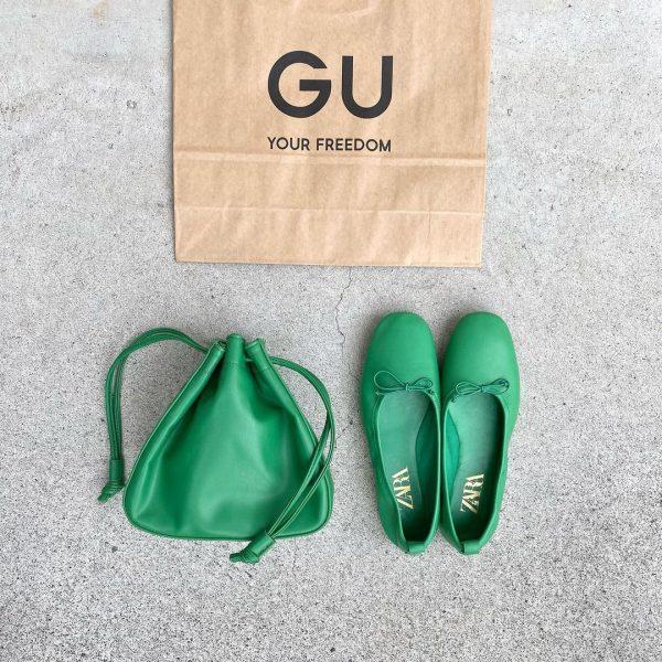 GUのソフトレザータッチドローストリングバッグ