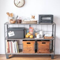 持っているものを見渡せて出し入れも簡単!キッチンのオープン収納アイデア