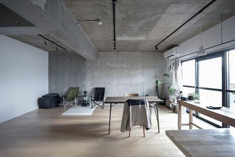 天井と壁 コンクリート