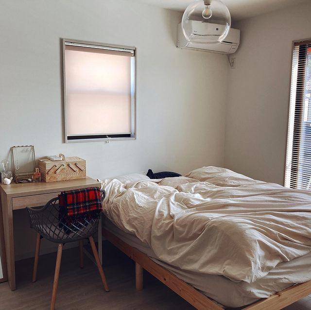 二人暮らしインテリア寝室