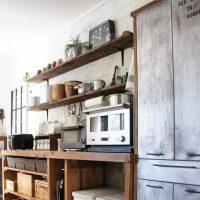【folk公式アンバサダー】簡単リメイク!食器棚をヴィンテージっぽく変えよう