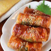 簡単レシピ!ご飯がすすむ厚揚げの大葉チーズ豚巻き