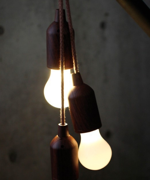 [SPICE OF LIFE] 電池式LEDロープランプ ベージュ/ブラウン