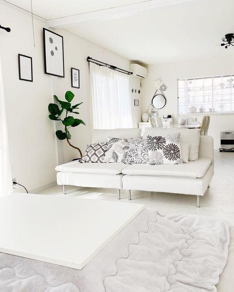 ホワイトをベースとした可愛い部屋