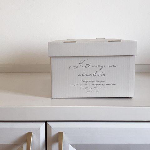 おしゃれな段ボール製ボックス