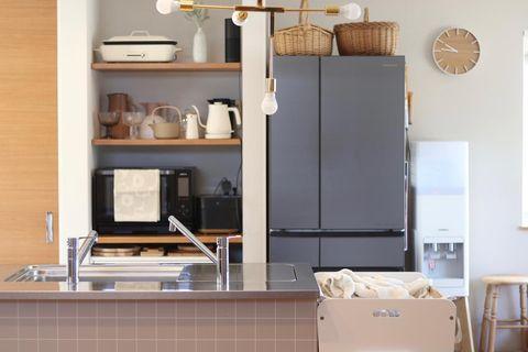 見せる&隠す収納がおしゃれなキッチンインテリア