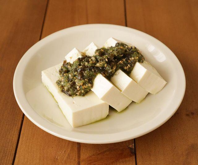 きゅうりの和風だれ豆腐