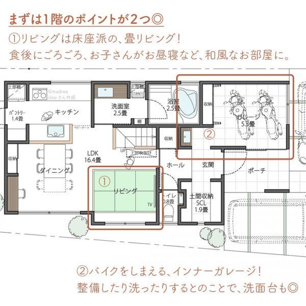 都会での家づくり計画!畳リビングでゴロゴロ間取り。2