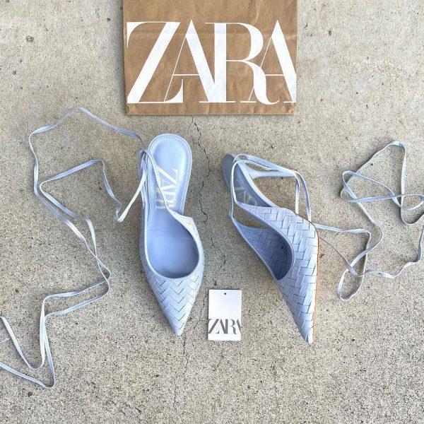 ZARAのメッシュストラップハイヒール