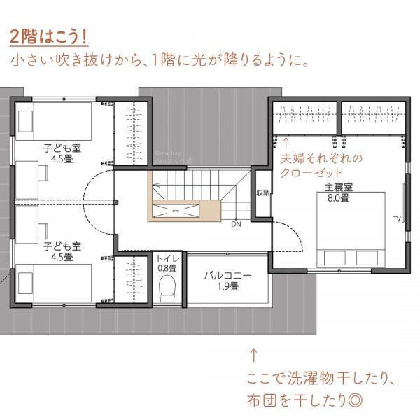 都会での家づくり計画!畳リビングでゴロゴロ間取り。3
