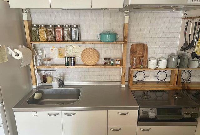 二人暮らしキッチン収納1