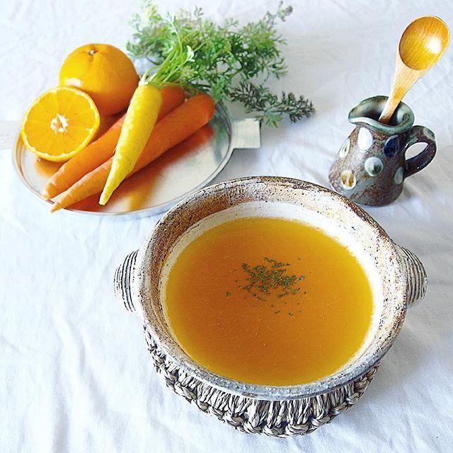 人参とフルーツのスープ
