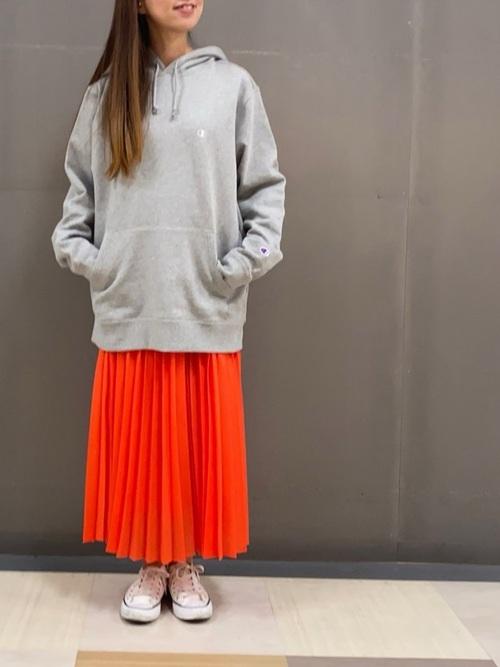 [Green Parks] オーガンジーカラープリーツスカート*