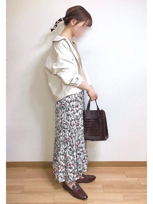 ユニクロ花柄スカート