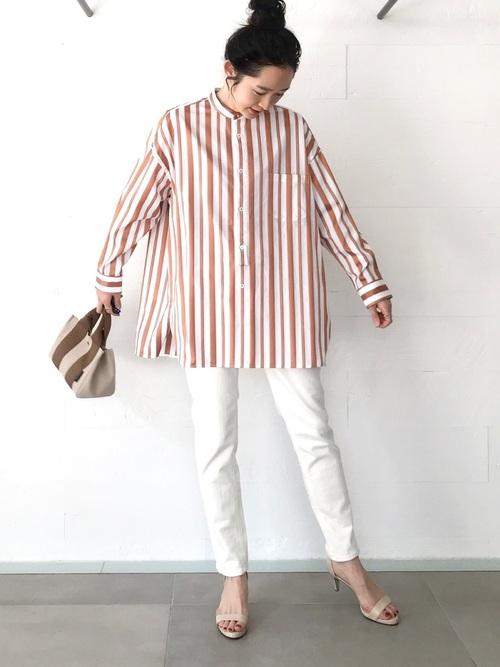 [OUVRAGE CLASSE] 【TICCA】ノーカラースクエアビックシャツ