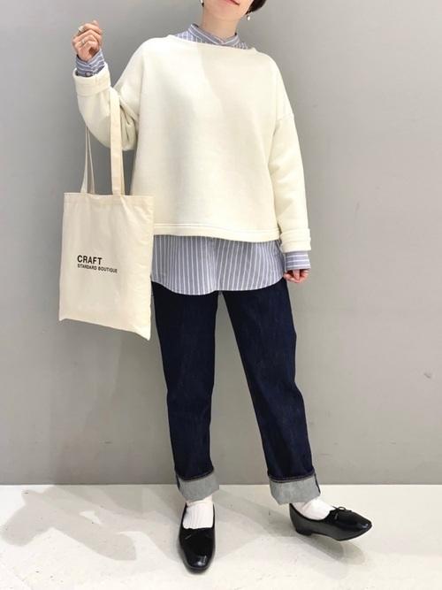 綿ブロードバンドカラーシャツ2
