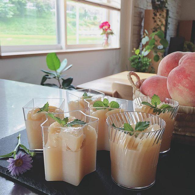 シンプルで美味しい♡桃の寒天ゼリーレシピ