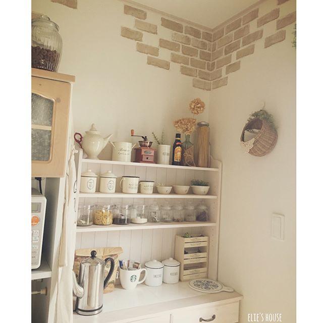 キッチンのオープン棚