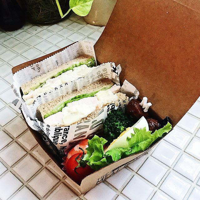 クラフト風サンドイッチケース